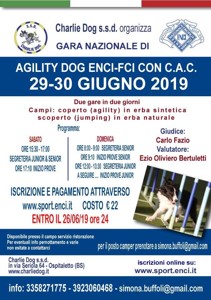 Enci Calendario Prove.Gara Nazionale Di Agility Dog Enci Fci Con C A C 29 30giugno